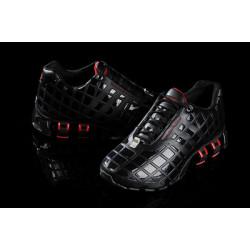 Кроссовки Adidas Porsche P5000 bounce S кожа черный с красным